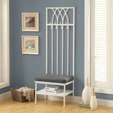 Grey Entryway Table white entryway mini hall tree coat rack stand home furniture decor