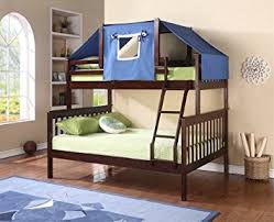 Amazoncom Twin Over Full Mission Bunk Bed Toys  Games - Full and twin bunk bed