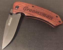 Personalized Groomsmen Knives Groomsmen Gift Pocket Knife Groomsmen Knife Personalized