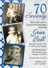 classic 30th 40th 50th 60th 70th birthday party photo invitation