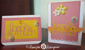 thank you cards with the cricut s designs cards