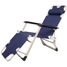 Chaise Lounge Chairs Indoor Amazon Com Zocy Folding Lounge Chairs Reclining Beach Outdoor