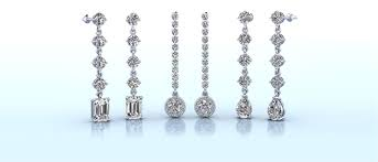 diamond dangle earrings customize all diamond earrings studs hoops and drop