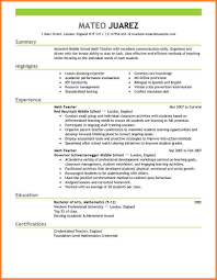 6 teaching resume format professional resume list