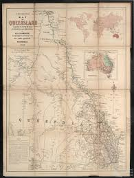 Map Of Queensland Emigration Map Of Queensland 1865 Queensland Historical Atlas