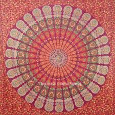 indian psychedelic mandala tapestry wall hanging hippie bed cover