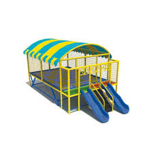 kids big trampoline bed with roof and slide playground