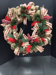 merry christmas burlap custom floral by andrea for michaels round