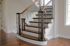 Banister On Stairs Stairway Railings Stair Parts Handrails Stair Railing Baers Treads