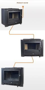 hiflame over 20kw extra large cast iron fireplace insert with