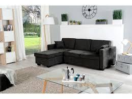 promo canap conforama canapé d angle convertible 4 places logan pas cher coloris noir prix
