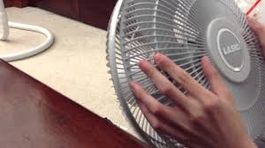 lasko table fan unboxing and running youtube