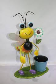 metal ornament bee flower pot flower planter garden ornament buy
