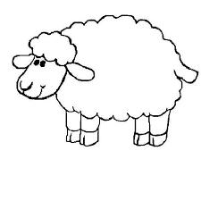 sheep colouring funycoloring
