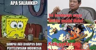Meme Spongebob Indonesia - gara gara spongebob dilarang tayang di televisi akhirnya munculah