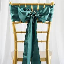 bows for wedding chairs 5 pcs green satin chair sashes tie bows catering wedding