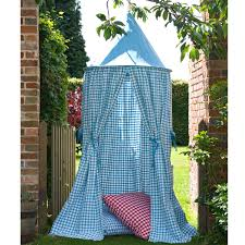 Hanging Tent by Sky Blue Gingham Hanging Tents