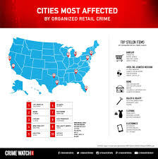 Chicago Neighborhood Crime Map by Organized Retail Crime Top Stolen Items Cities Most Affected