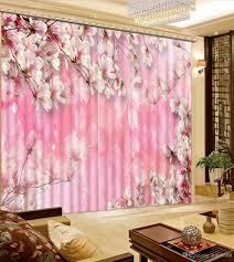 2017 decorative home decor pink flower forest bedroom blackout