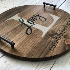 personalized serving dish personalized serving tray wood serving tray serving tray