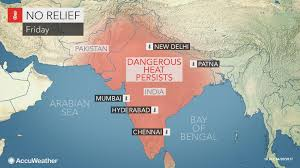 Monsoon Asia Map by India New Delhi To Face More Dangerous Heat After Enduring