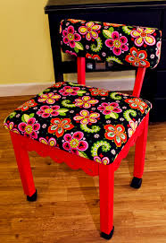 arrow cabinets sewing chair sold out red gingerbread sewing chairs with newcastle floral fabric