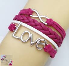 infinity charm leather bracelet images Love charm bracelets collection on ebay jpg