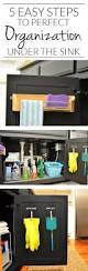 a homeowner hates under the sink clutter her solution simple and