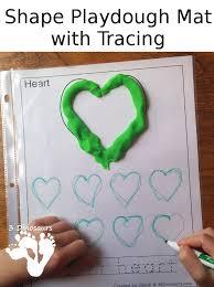 free printable shape playdough mats free shape playdough mat with tracing shape word 3 dinosaurs