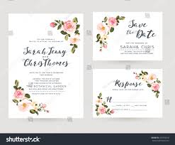 wedding invitation card suite tiny romantic stock vector 421659010
