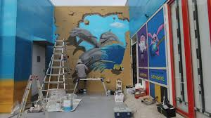 3d wall painting dolphin trick art time lapse youtube 3d wall painting dolphin trick art time lapse