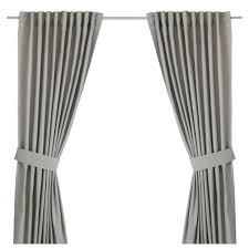 Ikeas Curtains Ingert Curtains With Tie Backs 1 Pair Grey 145x250 Cm Ikea