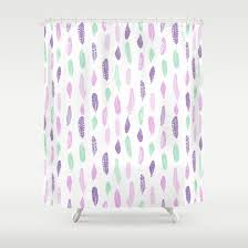 feathers pastel lilac and mint pink nursery pattern minimal trendy