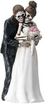 skeleton wedding cake topper wedding cake toppers and groom pose for dod