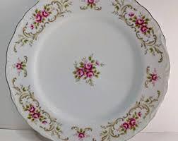 Shabby Chic Dinner Set by Vintage Dinner Plate Etsy