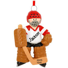 personalized goalie hockey player ornament hobbies