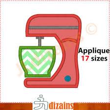 kitchen mixer applique design kitchen mixer embroidery