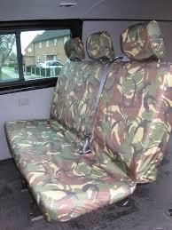 vw volkswagen transporter t6 kombi 2015 onwards rear seat covers