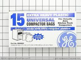 Garbage Compactor Bags Ge Wx60x1 Trash Compactor Bags Appliancepartspros Com