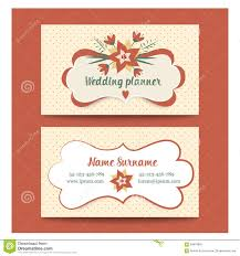 wedding planner business template business cards for wedding planner or stock vector