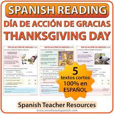 1 reading thanksgiving day día de acción de gracias