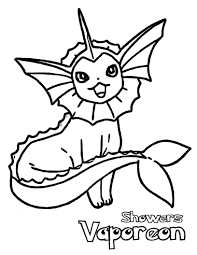 fantastic coloring pokemon vaporeon coloring pages
