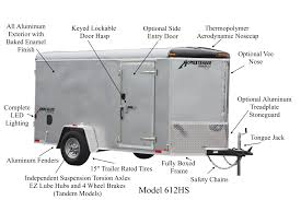 enclosed trailer interior light kit hercules enclosed cargo trailers homesteader trailers
