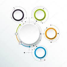 imagenes abstractas con circulos moléculas abstractas vector con etiqueta de papel 3d círculos