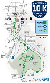 Blue Ridge Mountains Map Anthem Star 10k Foot Levelers Blue Ridge Marathon