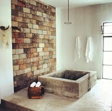 rustic bathroom and concrete bath tub new house ideas