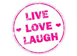 live love laugh live love laugh on pink grunge rubber st stock illustration