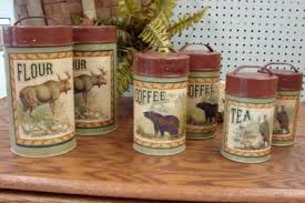 rustic kitchen canisters 18 northwoods rustic kitchen canisters canister etsy