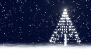 a christmas snow snow with glowing baubles on a christmas tree animated