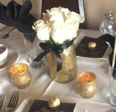 Centerpieces 50th Birthday Party by Mason Jar Wedding Centerpieces Black And Gold Centerpieces